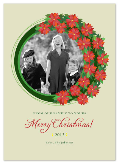 holiday photo cards - Wreath of Joy by Julia