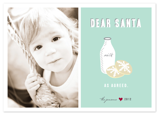 holiday photo cards - Dear Santa, As Agreed by Lehan Veenker