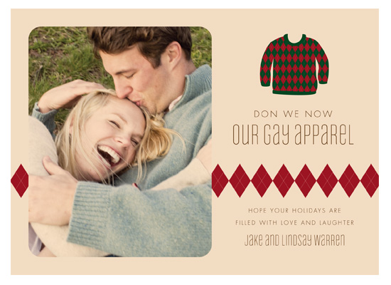 holiday photo cards - Gay Apparel by Kim Nelson