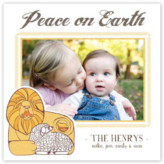 holiday photo cards - Peace on Earth by Kayte Studer