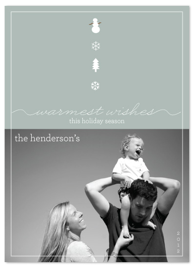 holiday photo cards - Warmest Wishes by a visual concept