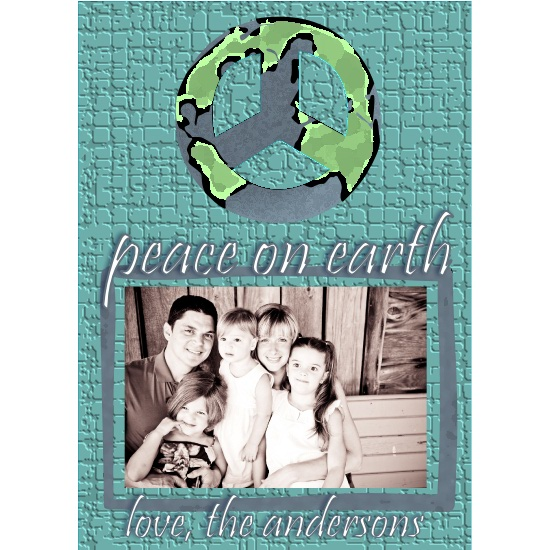 holiday photo cards - peace ON earth by Dandelion Dream Designs