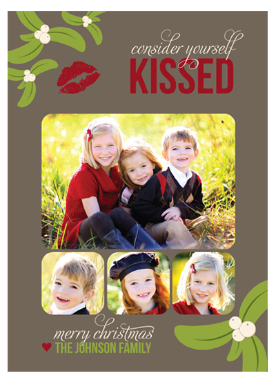 holiday photo cards - Consider Yourself Kissed by Kim Nelson