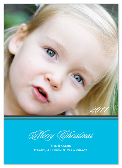 holiday photo cards - Crisp Blue by Simple Groovy