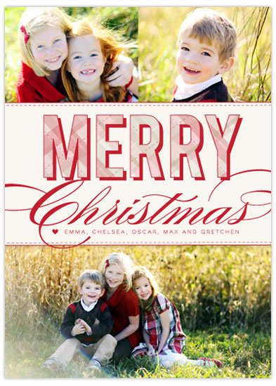 holiday photo cards - Christmas Plaid by Lindsey Chin-Jones