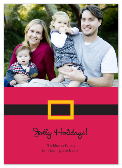 holiday photo cards - Santa's Belt by Whitney Beard