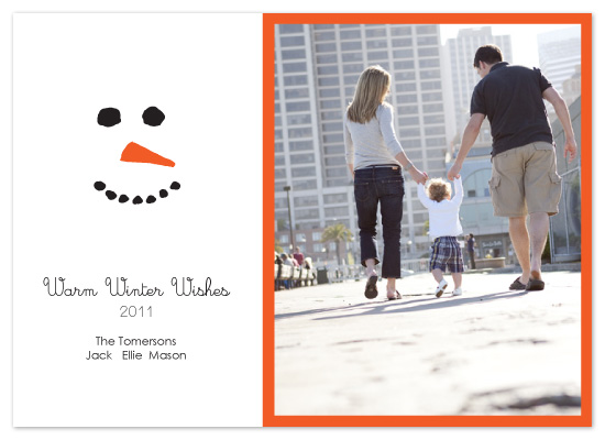 holiday photo cards - Snowman Grin by Whitney Beard