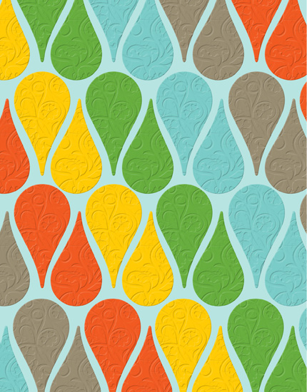 personal stationery - Teardrop Tiles by Papersaurus Creative