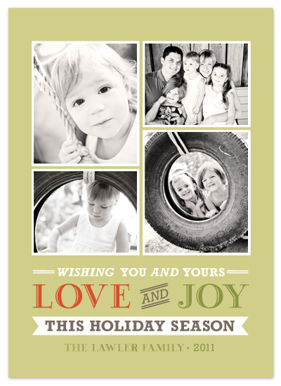 holiday photo cards - Love and Joy Holiday Season by emily baker