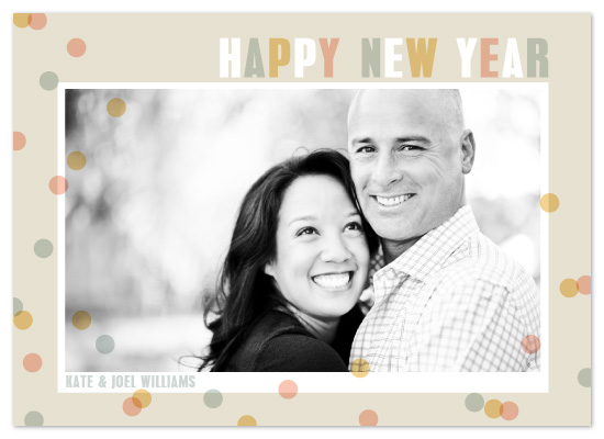holiday photo cards - Confetti New Year  by emily baker