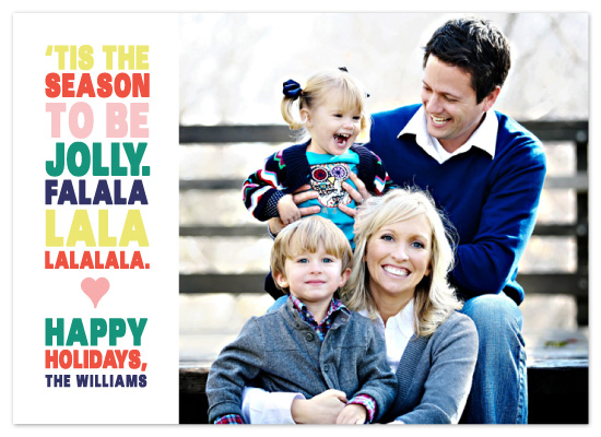 holiday photo cards - Tis The Season To Be Jolly by emily baker