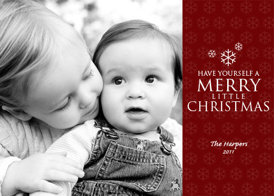 holiday photo cards - Merry Little Christmas by Kristin Woodwick