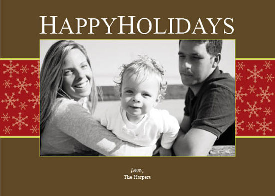 holiday photo cards - Snowy Holiday by Kristin Woodwick