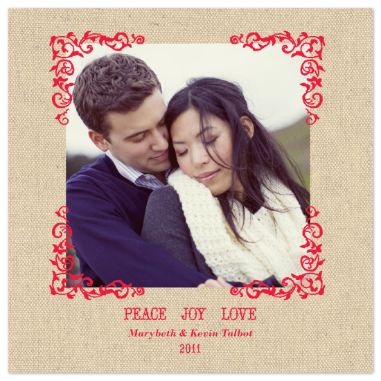 holiday photo cards - Vintage Linen by Whitney Beard