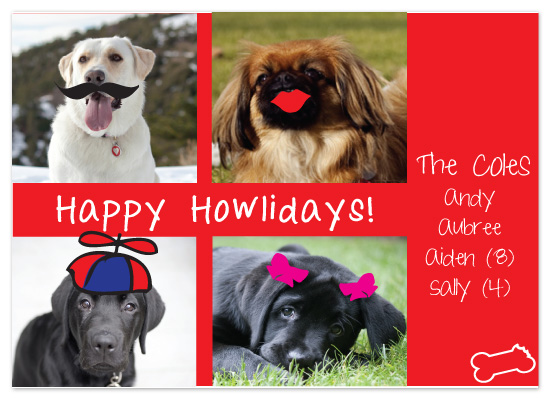 holiday photo cards - Happy Howl-i-days by olive paperie