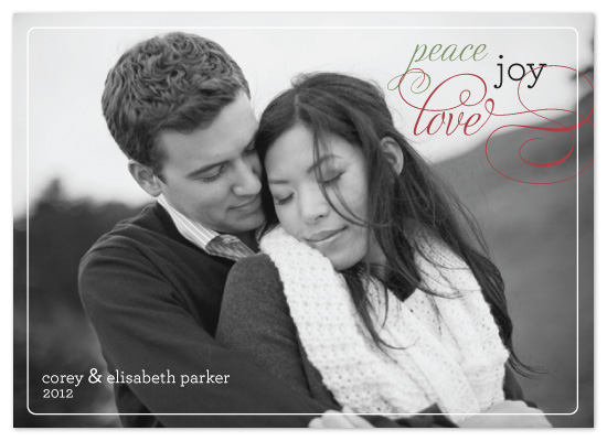 holiday photo cards - Peace Joy Love by a visual concept