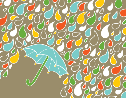 personal stationery - Happy Rain by Kari Lind Creations