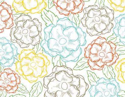 personal stationery - Sketched Blooms by Kari Lind Creations