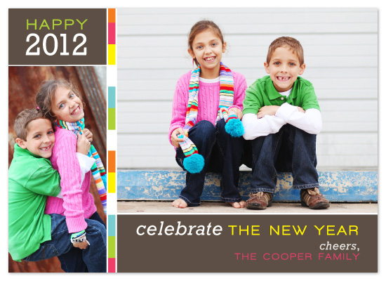 holiday photo cards - Color Pop Celebrate the New Year by emily baker