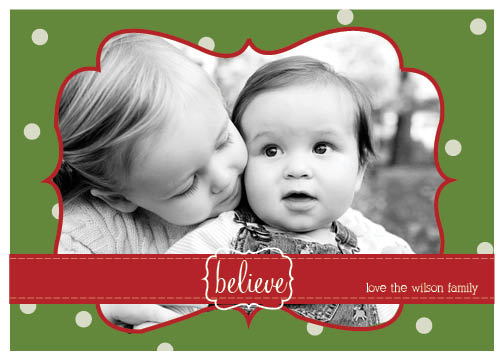 holiday photo cards - believe by Cassie Schneider