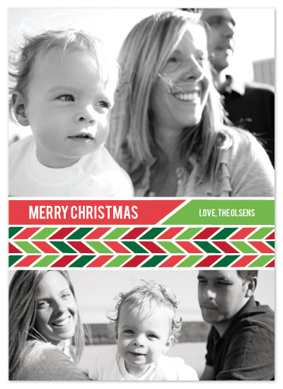 holiday photo cards - Merry Candy Cane by Julia