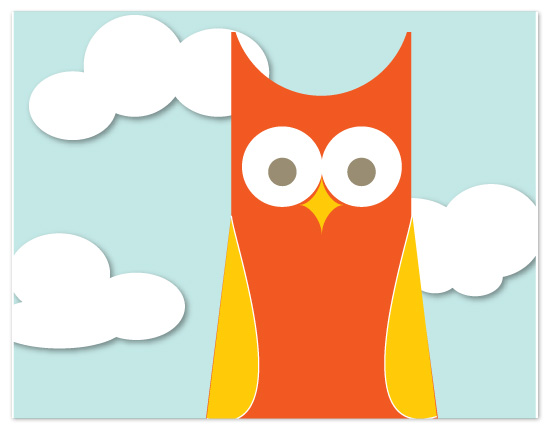 personal stationery - Hooty by Susan Crispell