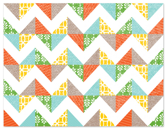 personal stationery - patchwork chevron by Lauren Chism