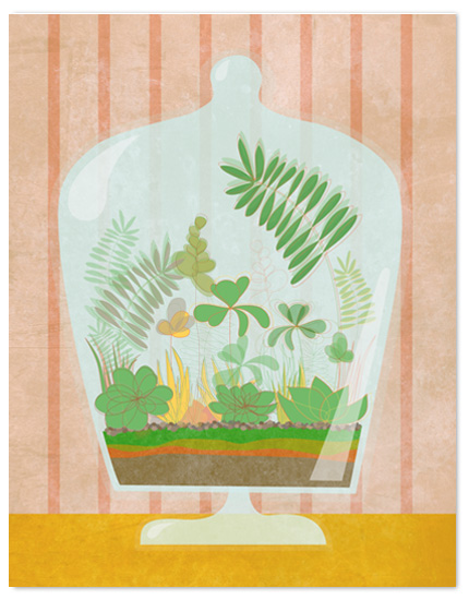 personal stationery - terrarium by Lindsey Chin-Jones