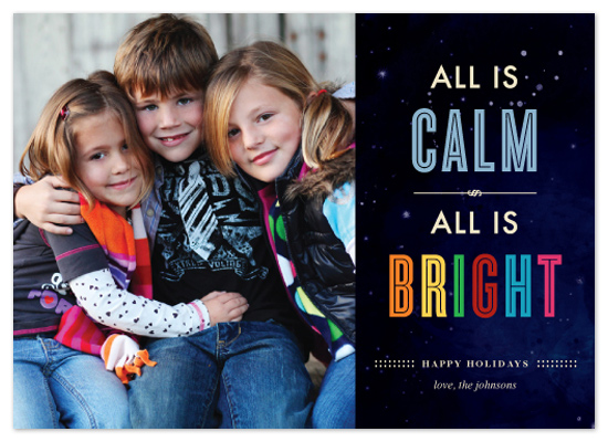 holiday photo cards - Christmas Calm & Bright Lights by i heart design studio
