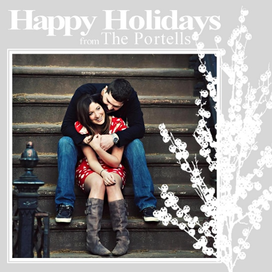 holiday photo cards - simple holiday branch by melissa portell