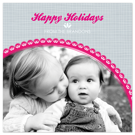 holiday photo cards - Christmas Lace by Edub Graphic Design