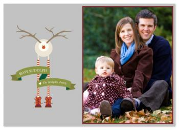 Rosy Rudolph holiday card