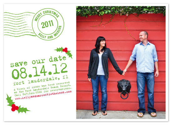 holiday photo cards - Xmas Postmark & Save The Date by - Keg Design -