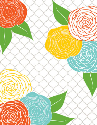 personal stationery - Bold Summer Blossoms  by Jennifer Sutherland