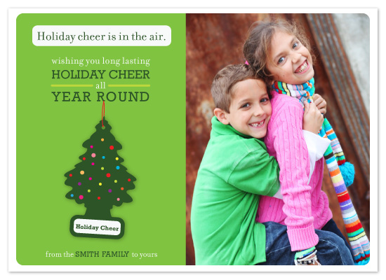 holiday photo cards - Holiday Cheer Air Freshener by Jacqueline Rivera