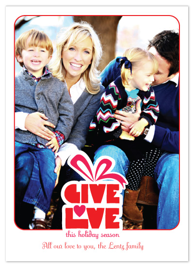 holiday photo cards - GIVE LOVE_Gift.V1 by Jacqueline Rivera