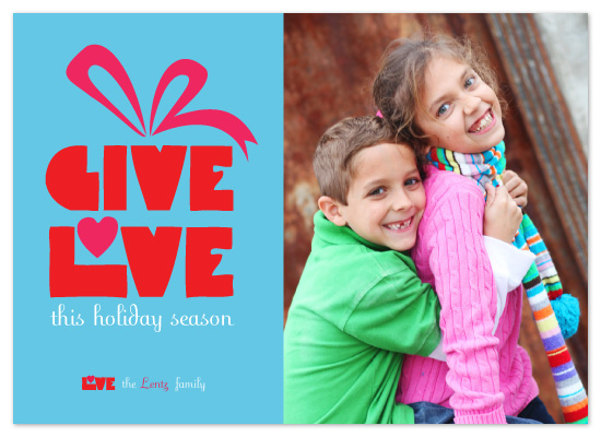 holiday photo cards - GIVE LOVE_Gift.V2 by Jacqueline Rivera