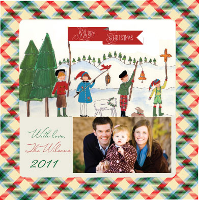 holiday photo cards - Tartan Tours by Tricia Lowenfield