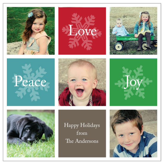 holiday photo cards - Happy Holiday Squares by Katherine Moynagh