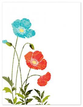 Texture Poppies