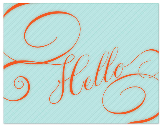 personal stationery - scrolly hello by Up Up Creative