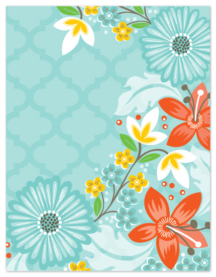 personal stationery - Corner Trellis by Alethea and Ruth