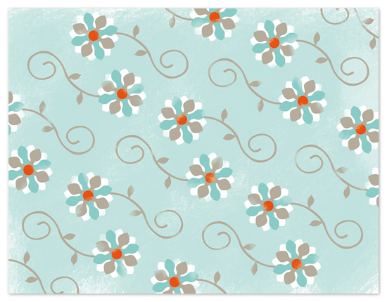 personal stationery - Whimsy Flowers by The Papeterie Co.