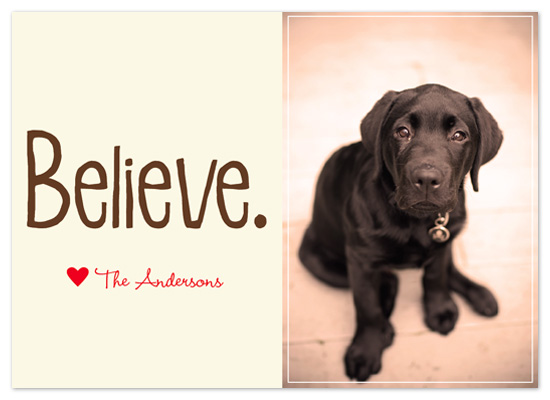holiday photo cards - Believe by - Keg Design -