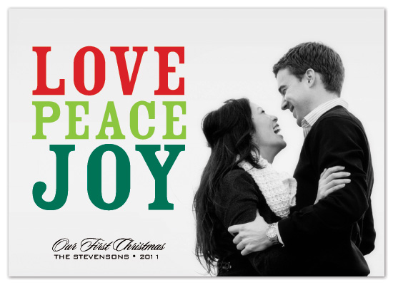 holiday photo cards - love peace joy...and the greatest is love by Christiana Hudson