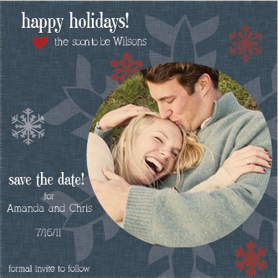 holiday photo cards - Snowflake Save the Date by Cassie Schneider