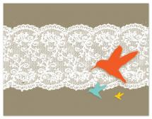 Birds and Lace by Bloom Art and Design