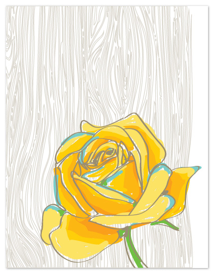 personal stationery - Yellow Rose of Texas by Bloom Art and Design