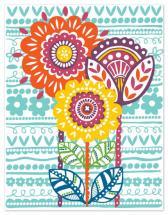Rainbow Floral by Jessica Hogarth