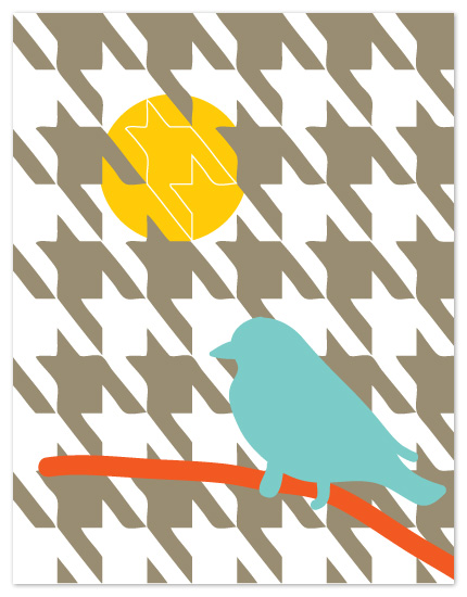 personal stationery - Houndstooth by Bloom Art and Design